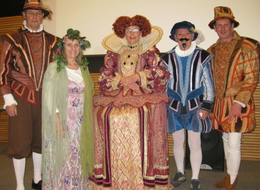 The Committee joined in the spirit of the evening by appearing in costume