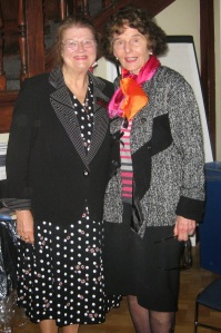 Catherine King with Barbara Large