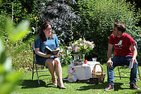 Poets in the Garden Julia Bird and Mike Sims
